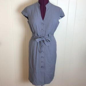 Dress Barn Gray Dress with Button Front
